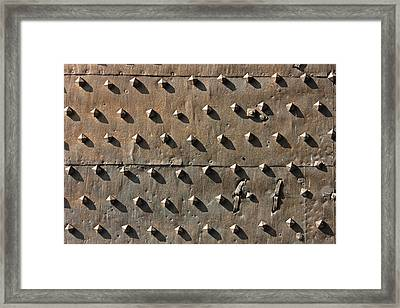 Ancient Metal Fortification Gates Framed Print by Kiril Stanchev