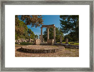 Ancient Olympia Greece Framed Print
