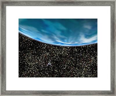 Ancient Planet In M4 Globular Cluster Framed Print