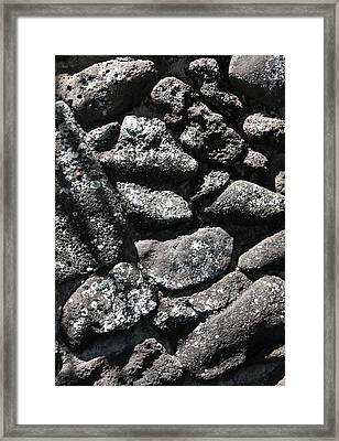 Ancient Rock Wall Framed Print by Craig Wood