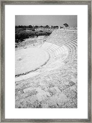 Ancient Site Of Roman Theatre At Salamis Famagusta Turkish Republic Of Northern Cyprus Trnc Framed Print