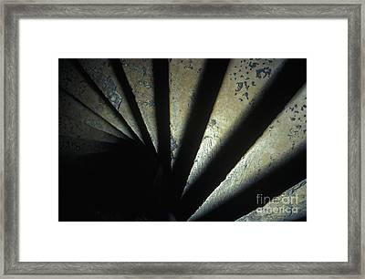 Ancient Stone Spiral Staircase Framed Print