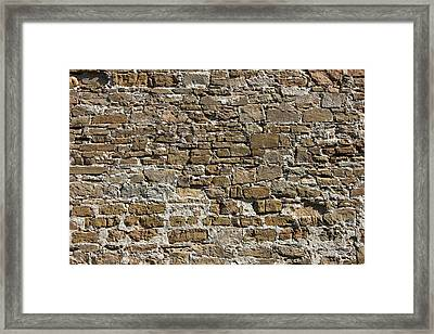 Ancient Stone Wall Background Framed Print by Kiril Stanchev