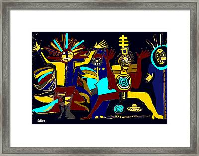 Ancients- Night Visit Framed Print