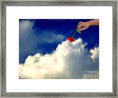 And A Cherry On Top Framed Print by Methune Hively
