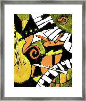 And All That Jazz Orange Framed Print by Wayne Potrafka