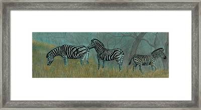And Baby Makes Three Framed Print by Linda Harrison-parsons