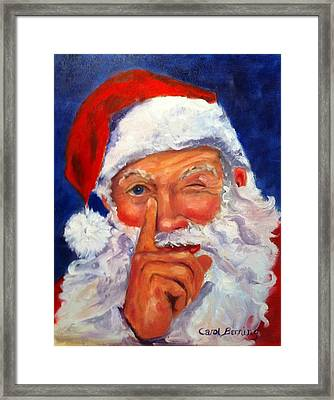 Framed Print featuring the painting And Giving A Wink by Carol Berning