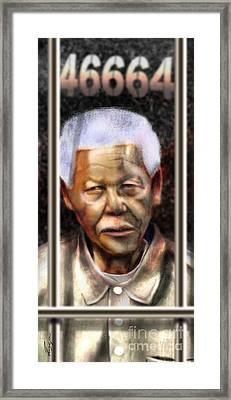 And God Remembered Prisoner 46664 Framed Print by Reggie Duffie