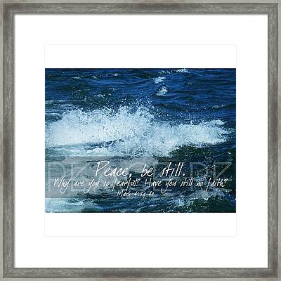 and He Awoke And Rebuked The Wind And Framed Print