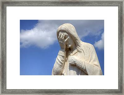 And Jesus Wept IIi Framed Print by Ricky Barnard