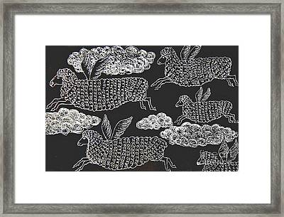And Sheep Can Fly Framed Print by Nareeta Martin