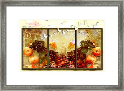 And The Birds Are Leaving  Framed Print by Yvon van der Wijk