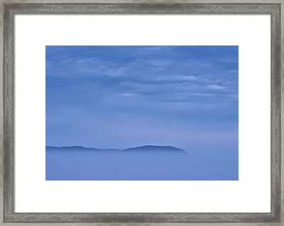 And The Blues Came Framed Print by Odd Jeppesen