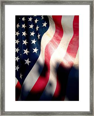 And The Flag Still Stood Framed Print by Catherine Natalia  Roche