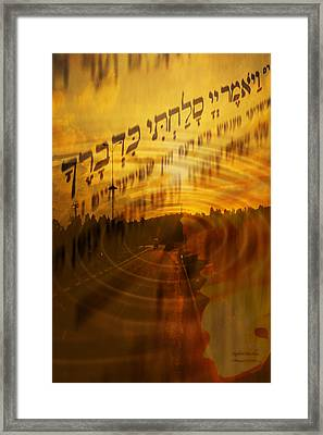 ..and The Lord Said I Forgive... Framed Print by Itzhak Richter