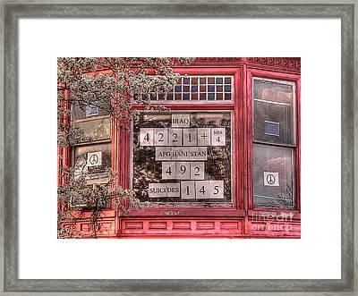 And The Number Is Still Rising... Framed Print by David Bearden
