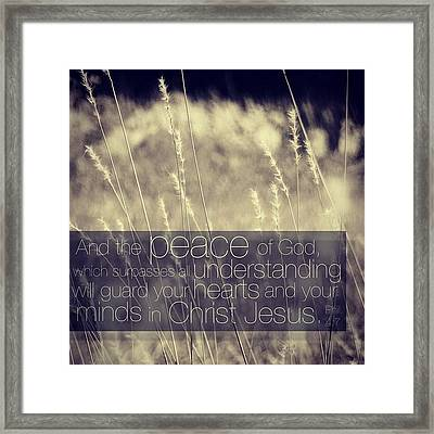 and The Peace Of God, Which Surpasses Framed Print