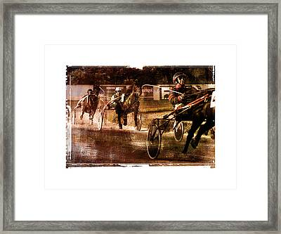 and the winner is - A vintage processed Menorca trotting race Framed Print by Pedro Cardona