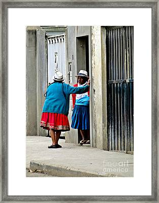 And Then He Said Framed Print by Al Bourassa
