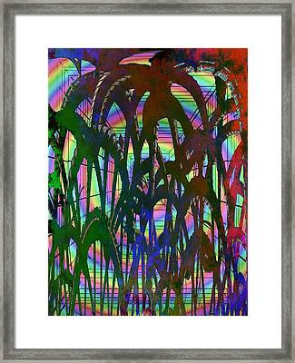 And They All Came Tumbling Down Framed Print