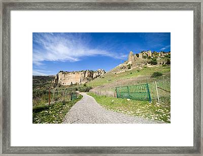 Andalucia Countryside In Spain Framed Print by Artur Bogacki