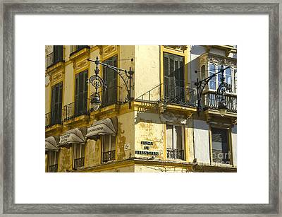 Andalusian Spanish Facade Framed Print by Perry Van Munster