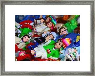 Andean Baby Jesus Figures Framed Print by James Brunker