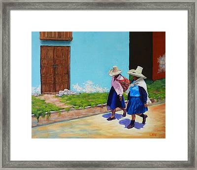 Andean Ladies Framed Print