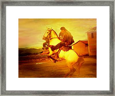 Andean Rearing Horse-cuzco Caballero IIi Framed Print by Anastasia Savage Ealy