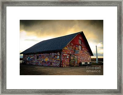 Anderson Barn At Dusk Framed Print