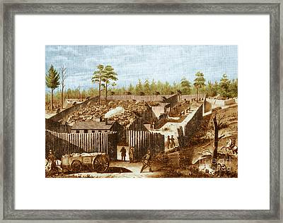 Andersonville Prison, Georgia Framed Print by Photo Researchers