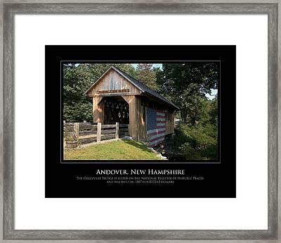Andover Nh Historical Bridge Framed Print by Jim McDonald Photography