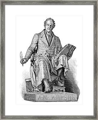 Andre-marie Ampere, French Physicist Framed Print by