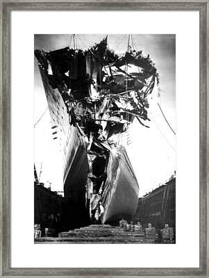Andrea Doria Disaster. This Head-on Framed Print by Everett