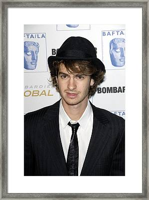 Andrew Garfield At Arrivals For 17th Framed Print by Everett