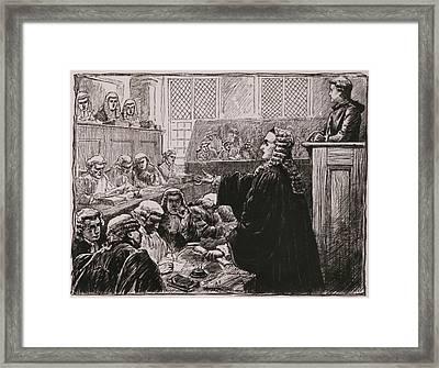 Andrew Hamilton, Peter Zengers Seated Framed Print