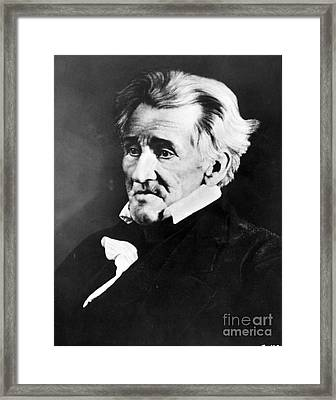 Andrew Jackson, 7th American President Framed Print by Omikron