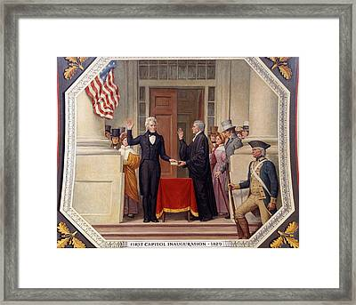 Framed Print featuring the photograph Andrew Jackson At The First Capitol Inauguration - C 1829 by International  Images