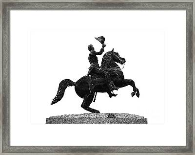 Andrew Jackson Statue Jackson Square French Quarter New Orleans Glowing Edges Digital Art Framed Print by Shawn O'Brien