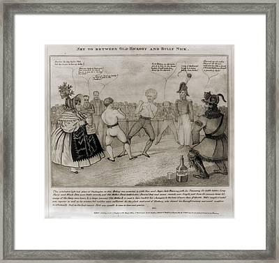 Andrew Jacksons War On The Bank Framed Print