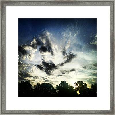 #andrography #nexuss #clouds #sky Framed Print by Kel Hill