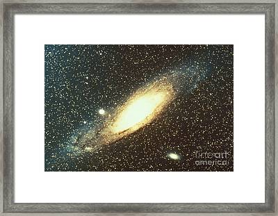 Andromeda Galaxy Framed Print by Science Source