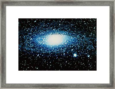 Andromeda Galaxy With Brightness Contour Lines Framed Print by Laguna Design