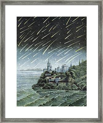 Andromedid Meteor Shower Framed Print by Science, Industry & Business Librarynew York Public Library
