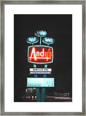Andy's Drive-in Framed Print by Jost Houk