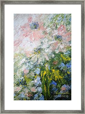 Framed Print featuring the painting Anemone by Kathleen Pio