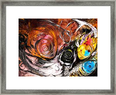 Anewed Antypityped Five Fish Framed Print