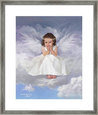 Angel 2 Framed Print by Rob Corsetti