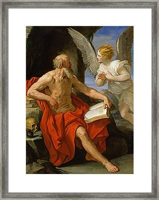 Angel Appearing To St. Jerome Framed Print